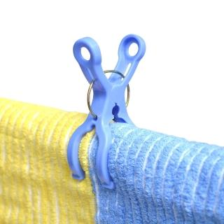 【日本AISEN】便利機能 曬竿專用衣夾(3包裝18夾)