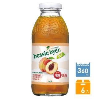 【Bessie Byer】貝思寶兒低卡蜜桃果茶360ml*6罐