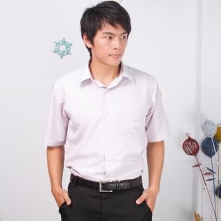 【JIA HUEI】短袖男仕吸濕排汗襯衫 3158系列 粉紅細條紋(台灣製造)