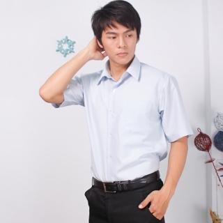 【JIA HUEI】短袖男仕吸濕排汗襯衫 3158系列 藍色細條紋(台灣製造)