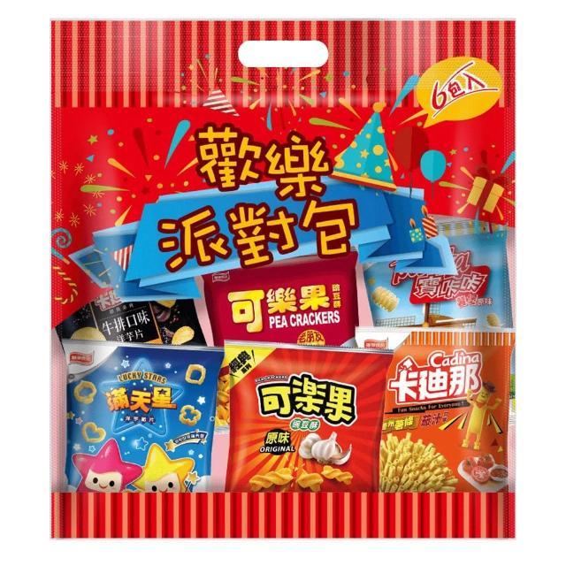 【可樂果x卡迪那x滿天星】休閒綜合量販包-6大包/袋(聯華食品)