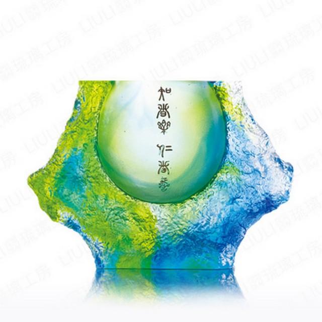 【琉璃工房 LIULI】山水常樂(花瓶/器皿)
