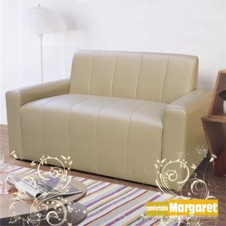 (Margaret)輕鬆成家二人座沙發(卡其/咖啡)