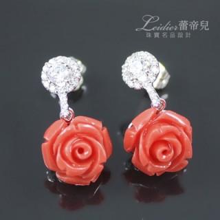 【蕾帝兒珠寶】花園舞曲玫瑰耳環