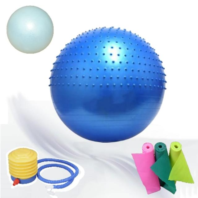 【Sport-gym】60cm球+26防爆球+彈力帶  3件瑜珈運動組合品