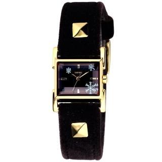 ALBA WIRED晶漾雪花時尚都會腕錶-金框(AC3Q06X)
