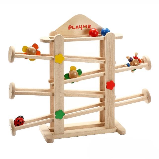 PlayMe轉轉花園:)可愛小花滾球玩具