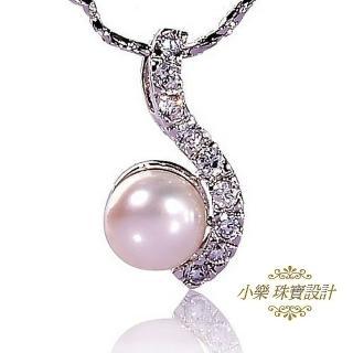 【小樂珠寶】超美天然珍珠墜子★閃電款