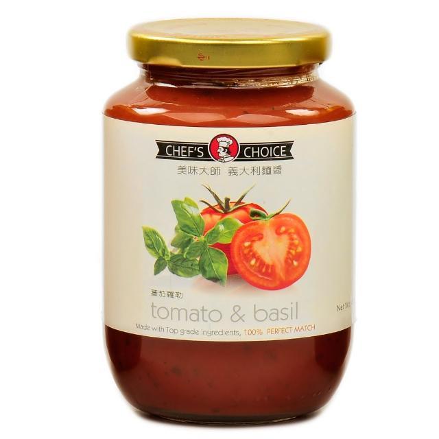 【美味大師】義大利麵醬-蕃茄羅勒(470g)