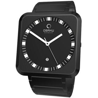 OBAKU 簡極印象時尚品味腕錶(全黑) V139GBBSB