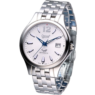 【Ogival 愛其華】尊爵時尚機械錶(829-24AGS銀白色)