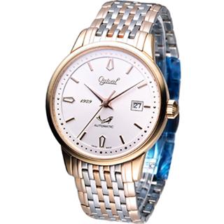 Ogival 愛其華 簡約時尚機械錶 1929-24AGSR 雙色款