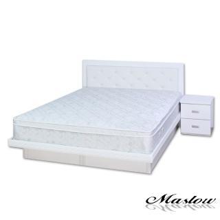 【Maslow-晶鑽純白】雙人掀床組-5尺(不含床墊)