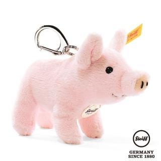【STEIFF德國金耳釦泰迪熊】Piglet Kering 粉紅豬(經典吊飾_黃標)