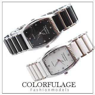 【范倫鐵諾】Valentino酒桶型陶瓷錶帶(玖飾時尚E214)