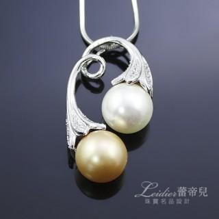 【蕾帝兒珠寶】-巴洛克之戀雙色貝珠墜