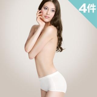 【樂活人生LOHAS】有機棉提臀高腰提臀修飾褲(4入組 自然棉色)