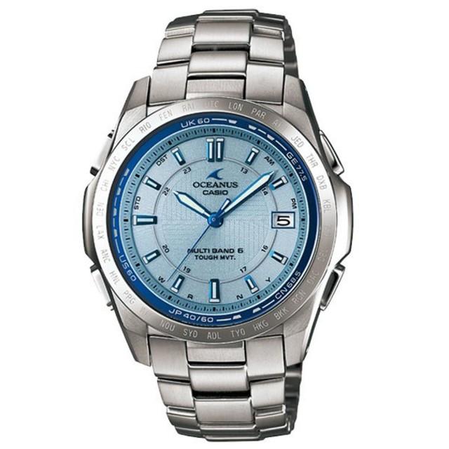 【CASIO OCEANUS系列】動靜之間鈦合金電波腕錶-銀(OCW-T100TE-2ADF)