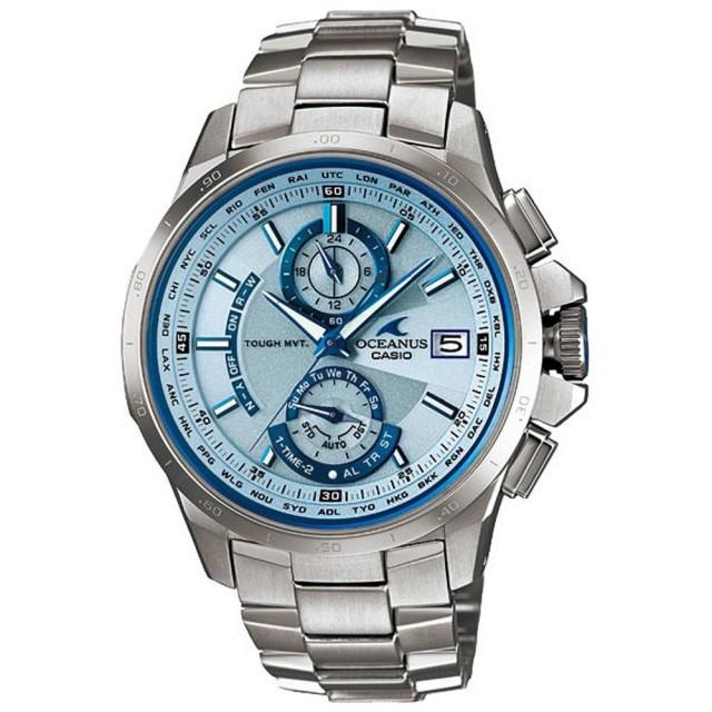 【CASIO】OCEANUS 動靜虛實鈦合金電波腕錶-銀(OCW-T1000E-2ADF)