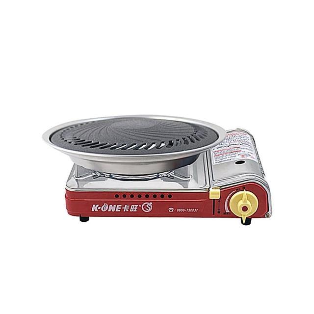 【卡旺】遠紅外線瓦斯爐+超級燒烤盤組(K1-A013SC+K1BQ-007)
