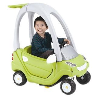 【寶貝樂】豪華嘟嘟造型學步車附踏板及控制桿(綠色)