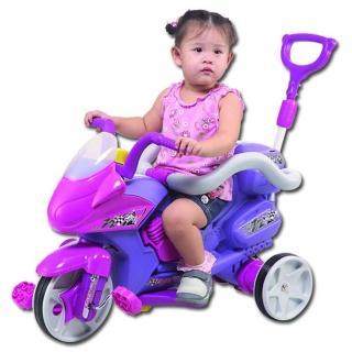 【寶貝樂】好拉風重機三輪車附伸縮拉桿及安全護欄-台灣生產