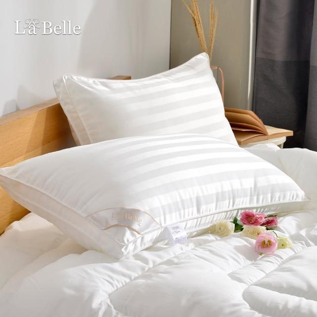 【義大利La Belle】《立體車邊羽絲絨緹花枕》(一入)