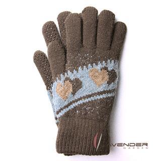 【Lavender】甜心雙層針織手套(駝色)