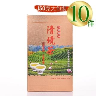 【惠鑽銓】清境級果香回甘優採高山茶(買6盒送4盒/共10盒)