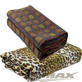 【onemall.99】雙面超細纖維創意保暖袖毯--豹紋/蘇格蘭