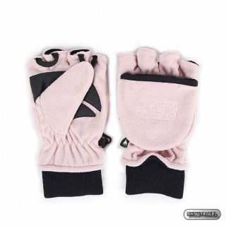 【SNOWTRAVEL】SNOW TRAVEL防風透氣雙層半指手套(粉紅)