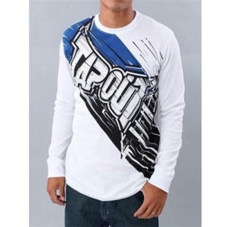 【摩達客】美國進口超人氣Tapout Zapp 白色長袖T恤