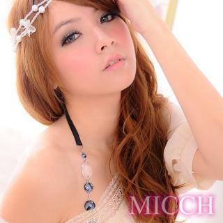 【MICCH】台灣製 波西米亞風幸運水晶繞頸肩帶