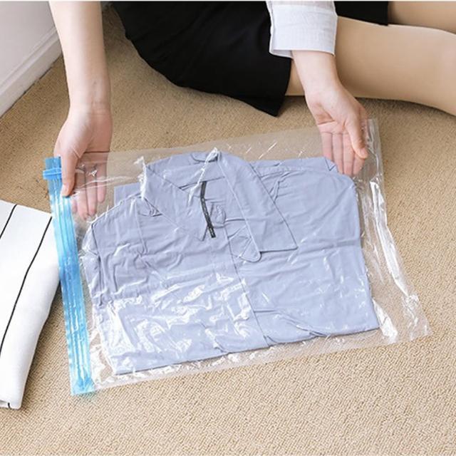 【悅‧生活】百特兔--居家旅行衣類收納袋10件組 40*60cm(壓縮袋 收納袋 免吸塵 旅行用 手捲式)