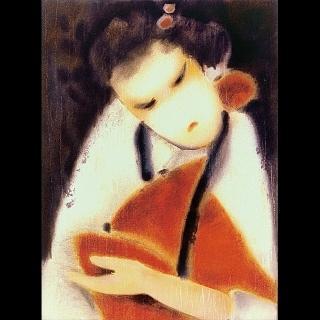【劉其偉藝術典藏】親筆簽名限量發行石版畫(民俗系列--村姑)