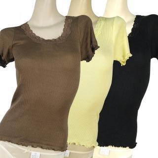 【賽凡絲】時尚短袖蠶絲上衣(超值三件組)