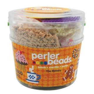 【Perler 拼拼豆豆】蛋糕甜點 DIY 8500 顆拼豆組合桶(模型板*3)