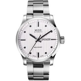 【MIDO】Multifort系列經典鋼帶腕錶-白(M0054301103180)