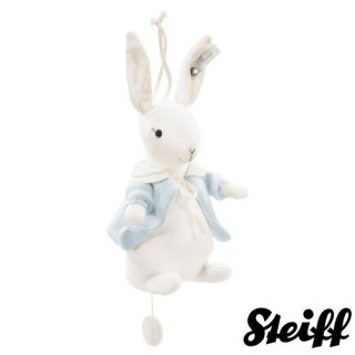 【STEIFF德國金耳釦泰迪熊】Rabbit Mucix Box(北鼻頂級精品 音樂鈴)