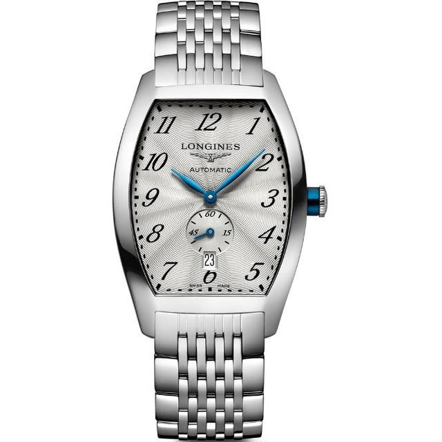 【LONGINES Evidenza 】藝術酒桶型腕錶(L26424736)