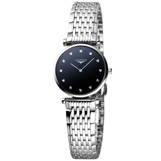【LONGINES】 嘉嵐系列 12顆真鑽女錶(L42094586)