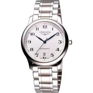 【LONGINES】巨擘系列大三針日期機械錶(L26284786-鋼帶)