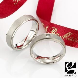 【MASSA-G DECO系列】Double Ring Promise(鈦金對戒)