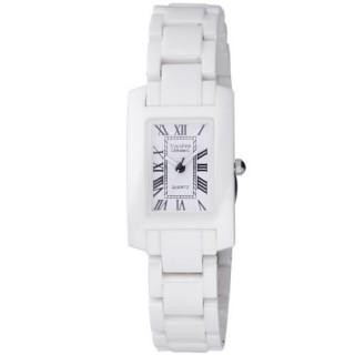 【Vaness】經典透亮羅馬時刻陶瓷腕錶(白/小V1200WL)