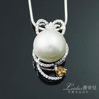 【蕾帝兒名品-】情緣白色貝珠碧璽墜鍊