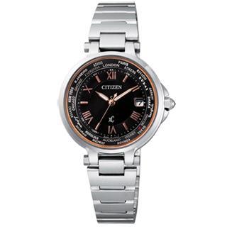 【CITIZEN】Xc 光動能馨悅之旅電波時計腕錶(黑 EC1010-57X)