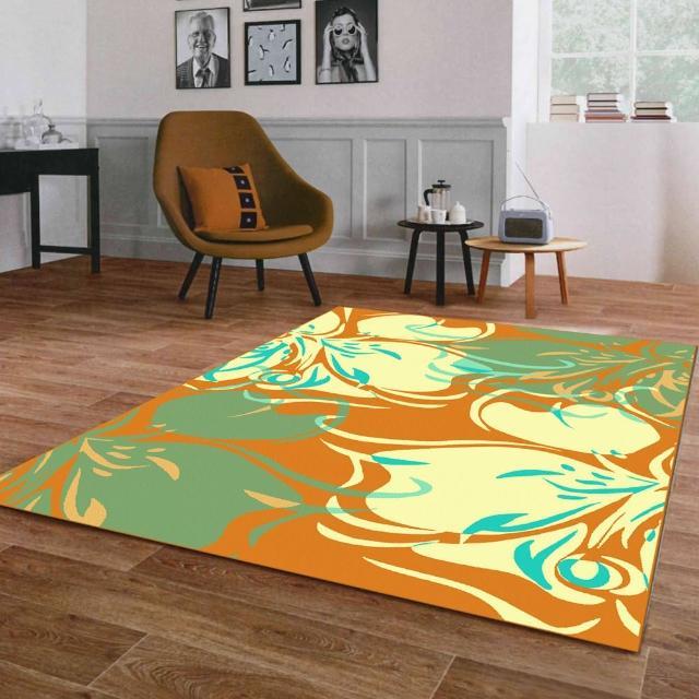 【范登伯格】奧斯汀光澤絲質感地毯-迷蝶-共三色(100x140cm)