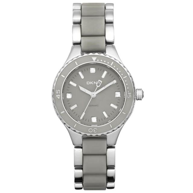 【DKNY】柔情風姿典雅晶鑽腕錶(灰 NY8501)