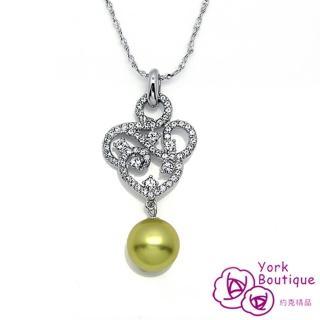~約克 ~貴族風華施華洛元素晶鑽琉璃珠包銠金項鍊 SGS