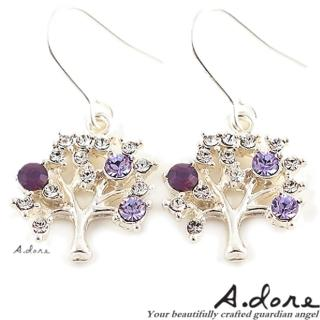 【A.dore】東京天空樹˙銀河系耳環(銀˙紫水晶)